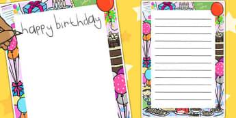 Birthday Decorative Page Border - birthday, page border, border