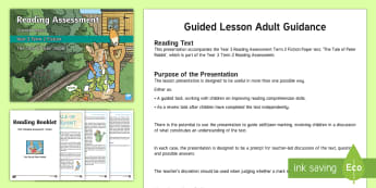 Year 3 Term 2 Fiction Reading Assessment Guided Lesson Teaching Pack - Year 3, Reading Assessment Guided Lesson PowerPoints, KS2, reading, read, assessment, guided, guidan
