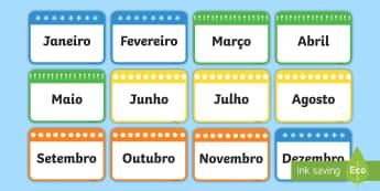 Mese do ano, cartões - dia,semana,mes,dias,semanas,meses,ano,anos,tempo,gestao,sala de aula, calendario, vocabulario