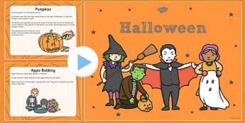 All About Halloween PowerPoint KS1 - halloween, pumpkin, October, celebration, festival, PowerPoint