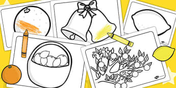Oranges and Lemons Colouring Sheets - Orange, Lemon, Fruit