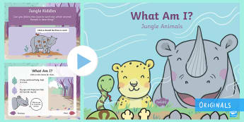 What Am I? Jungle Animal PowerPoint - children's book, Ronald, Ronald the Rhino, story, rhyming, riddle, animal, jungle, what am I?, rhin