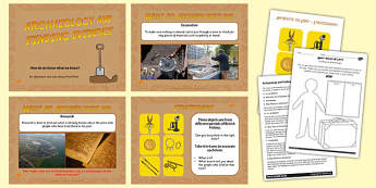 KS2 History Archaeology and Finding Evidence Lesson Teaching Pack