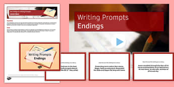 Ten Endings for Writing Prompts Resource Pack - ten, endings, writing, prompts, resource, pack
