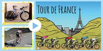 Tour de France Display Photo PowerPoint - le tour, photographs
