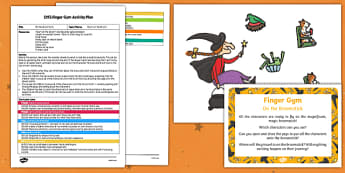 EYFS On the Broomstick Finger Gym Plan and Resource Pack