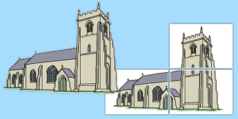 Christian Church Large Cut Out - christian church, christian, church, cut out, large