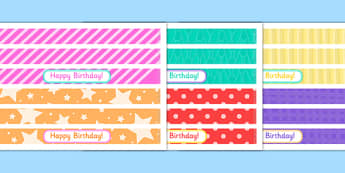 Birthday Party Cake Ribbon - birthday party, birthday, party, cake ribbon