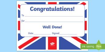 Union Jack Themed Editable Certificates - A Star of the Week Certificate, certificates,  foundation, good behaviour award, behaviour managemen