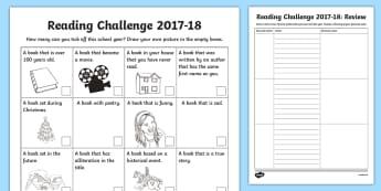 Personal Reading Challenge 2016-17 Checklist-Scottish