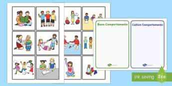 Comportamento in Classe Schede Discussione - comportamento, in, classe, regole, domande, attivita, esercizio bambini, elementari, scuola, italian