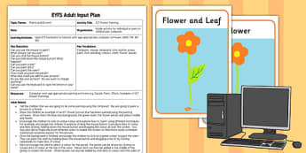 ICT Flower Painting EYFS Adult Input Plan And Resource Pack