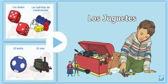 Toys PowerPoint Spanish - Spanish, KS2, toys, presentation, powerpoint, los juguetes
