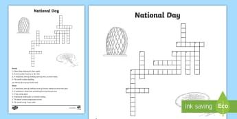 UAE National Day Crossword - UAE National Day, UAE, national day, sheikh, khalifa, sheikh khalifa, ADEC, abu dhabi, dubai, sheikh