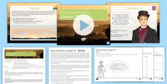 Great Expectations Chapter 59 Lesson Pack - Charles Dickens, Pip, Estella, Joe, Biddy, Herbert, Clara, End, Textual Analysis.