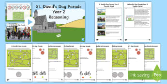 St David's Day Parade Year 2 Reasoning Resource Pack - Dewi Sant, St Davids Day, David's, reasoning