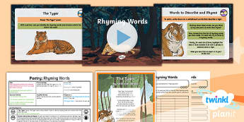 PlanIt Y6 Animals: The Tyger Lesson Pack - Animals: The Tyger, tiger, tigers, poetry, rhyming, rhyme, poem