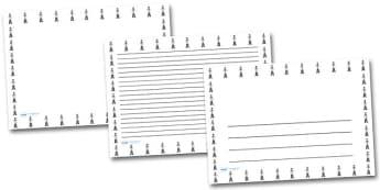 Male Doctor Landscape Page Borders- Landscape Page Borders - Page border, border, writing template, writing aid, writing frame, a4 border, template, templates, landscape