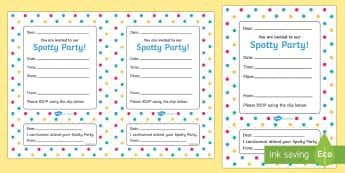 Spotty Themed Party Invitation