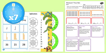 7 Times Table - 7 Times Table Resource Pack - 7 Times Table - 7 Times Table Resource Pack, Seven Times Table, multiplication, 7x, table,