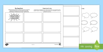 Father's Day Superhero Comic Strip Storyboard Template English/Romanian - Australia Father\'s Day, fathers, superhero, dad, comics, comic strips, comic storyboard, storyboa