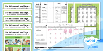 PlanIt Spelling Year 4 Term 2B Bumper Spelling Pack - Spellings Year 4, Y4, spelling, spell, bumper, pack, year 4, spag, gps, spring term 2