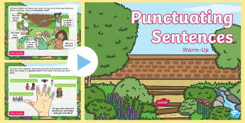 Year 2 Punctuating Sentences Warm-Up PowerPoint - SpAG, full stop, Question mark, exclamation mark, capital letter