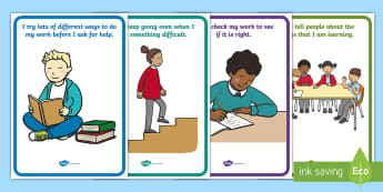 NI Thinking Skills and Personal Capabilities Self Management Statements Display Posters - TSPC, Success Criteria, Northern Ireland, Curriculum, Targets