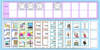 KS2 Visual Timetable Resource Pack - ks2, visual, timetable, pack
