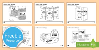 Foodbank Colouring Activity Sheets - Food Bank, foodbank, hunger, charity, volunteer, community, food parcels, crisis.