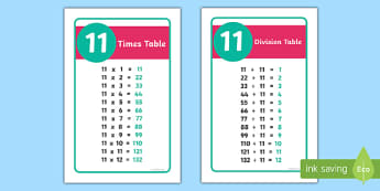 IKEA Tolsby 11 Times and Division Table Prompt Frame - ikea tolsby frame, ikea tolsby, frame, times tables, times table, division tables, division table, prompt frame, prompt