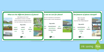 Year One Australian Geography Inquiry Questions A4 Display Poster - KS1 Geography, Australian Geography, Australian KS1 Geography, Australian Year One Inquiry questions