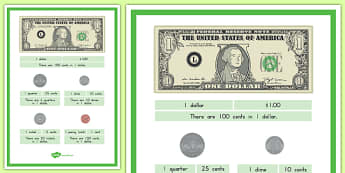 Dollars and Cents A4 Display Poster