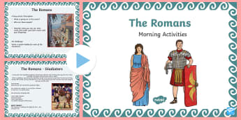 1 Week Romans Topic Morning Activities LKS2 - roman, history