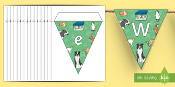 Pet Day Display Bunting - New Zealand, Pet Day, Farm Safety, Pet Show, animals, flags, bunting, hang, animals NZ