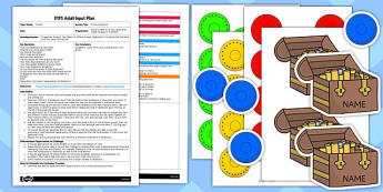 Pirate Doubloons EYFS Adult Input Plan And Resource Pack- early years