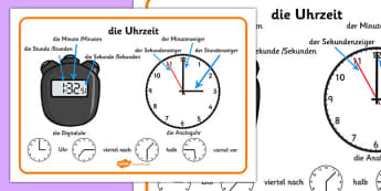 German Time Word Mat - german, time word mat, word, mat, time