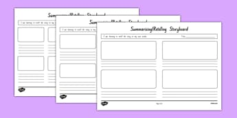 Summarising and Retelling Storyboard Template