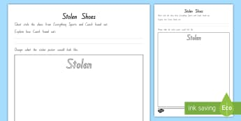 Year 5 and 6 Chapter Chat Week 5 Stolen Shoes Poster Activity To Support Teaching On Ghost by Jason Reynolds - literacy, reading, chapter chat, ghost, jason reynolds, year 5, year 6