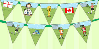 Womens Football World Cup 2015 Bunting - bunting, football, 2015