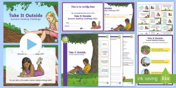 Take It Outside: Summer Reading Challenge Resource Pack - home learning, holiday, competition, extreme reading, library