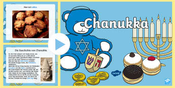Chanukka Informationen PowerPoint Präsentation - Hanukkah, Judentum, Religion, Religionsunterricht, Ethik, ,German