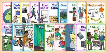 Australian Curriculum Subject Book Covers - book cover, front page, title page, subject, Australian Curriculum, labels