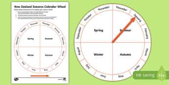 New Zealand Seasons Activity Sheet, worksheet