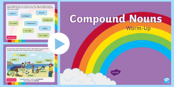 Year 2 Compound Nouns Warm-Up PowerPoint - Spag, revision, morning starter, spelling, punctuation