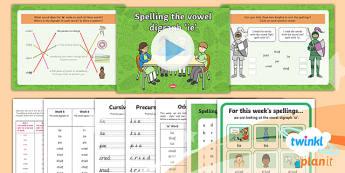 PlanIt Y1 Term 1B W6: 'ie' Spelling Pack - Spelling Packs Y1, Term 1B, 'ie'
