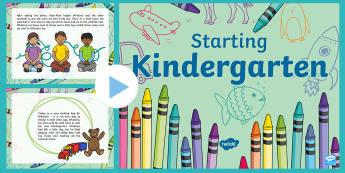 Starting Kindergarten PowerPoint - New Zealand, Back to School, kindergarten, playcentre, transition, kindergarten, new school, new cla