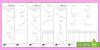 Measure and Order Angles Differentiated Activity Sheets - angles, measuring, ordering, geometry, activity sheet,