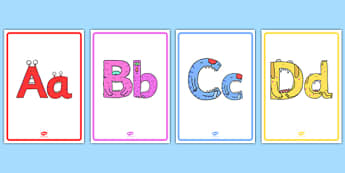 Monster Alphabet Display Posters - monster alphabet, monster, alphabet, display posters, display, posters