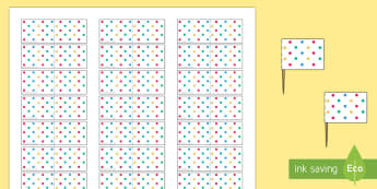 Spotty Themed Party Toothpick Flags